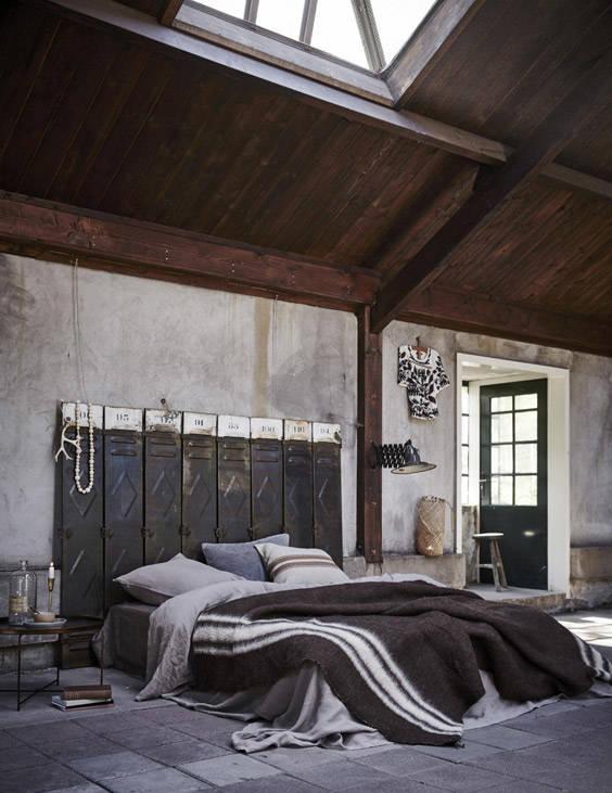 Puertas de taquillas industriales en sustitución de los tradicionales cabeceros de cama