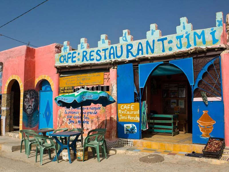 Cafe restaurante Jimy Hendrix en Essaouira