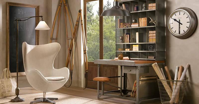 El sillón Egg en la decoración industrial