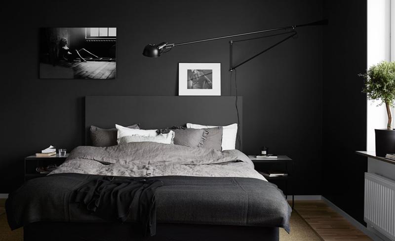 Habitaciones negras elegantes y buenas para tu salud for Cuarto negro con gris