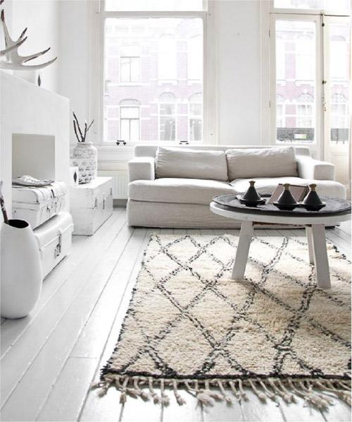 decoración de espacios con alfombras de lana de marruecos