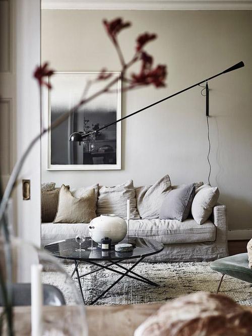 decoración en blanco y beige