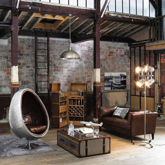 Decoraci n industrial los mejores lofts nomadbubbles for Decoracion retro industrial
