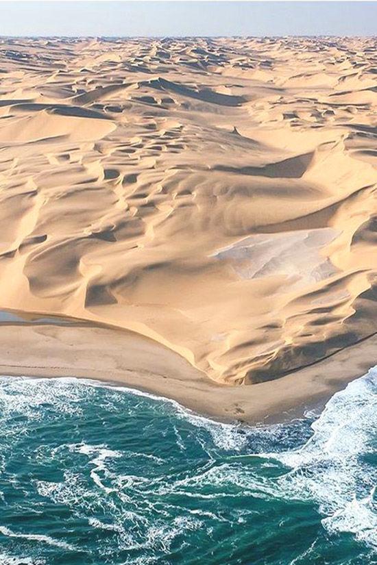La costa de los esqueletos en Namibia