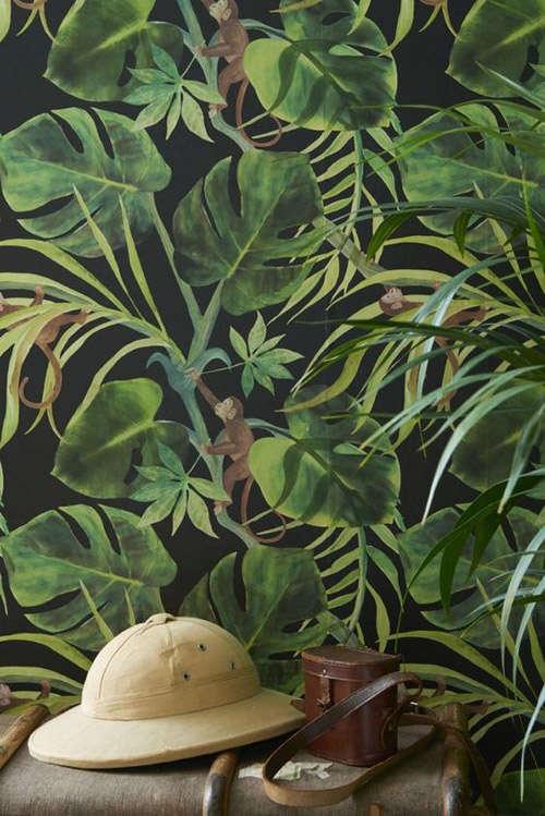 Papel pintado de inspiración tropical