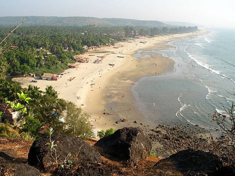 Playa de Arambol en Goa la India