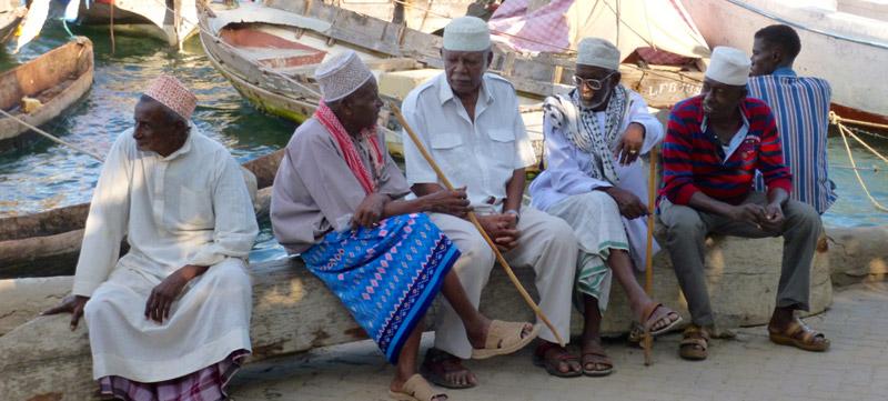 Swahilis en Lamu Kenia