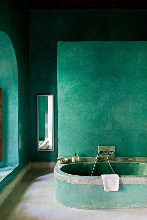 Baño verde de tadelakt