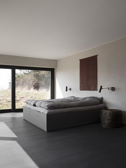 decoración minimalista de dormitorios de casas de campo