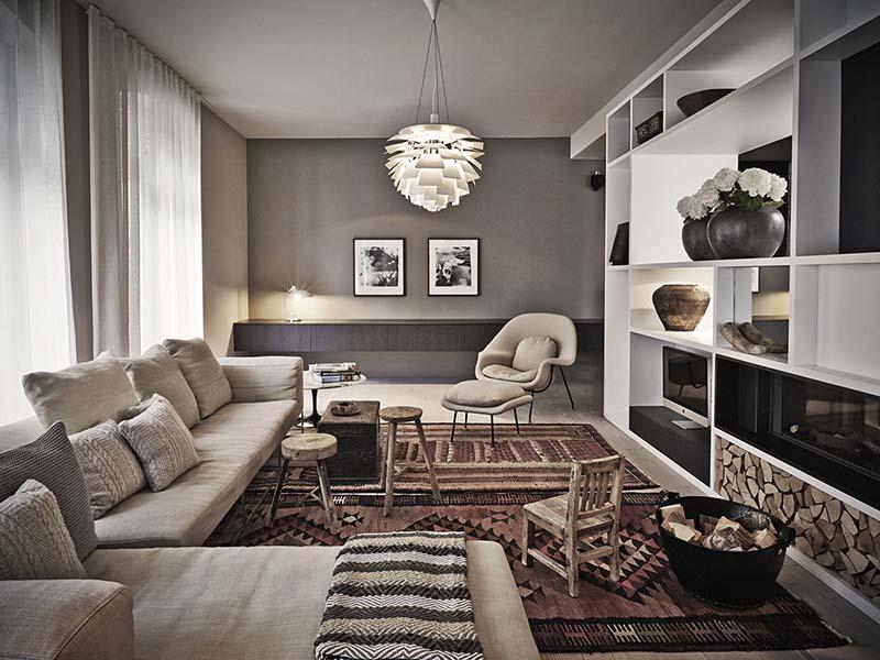 sofás y silón de color beige
