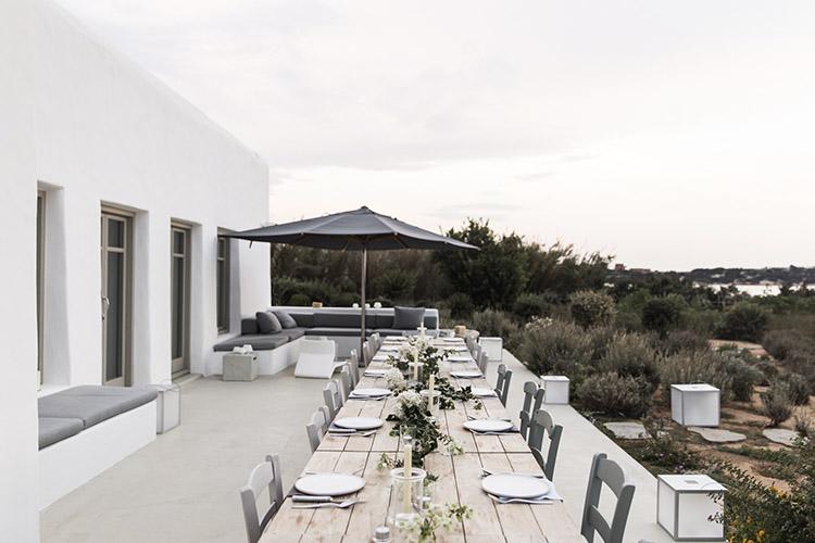 terraza de estilo mediterraneo