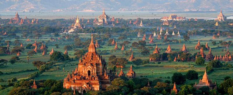 Templos y pagodas en Badan, Myanmar