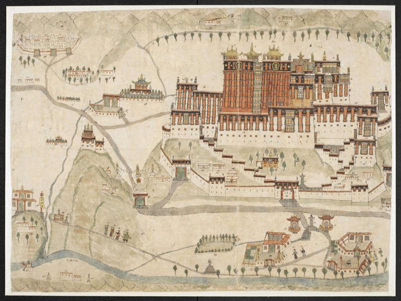 Una acuarela del Palacio de Potala