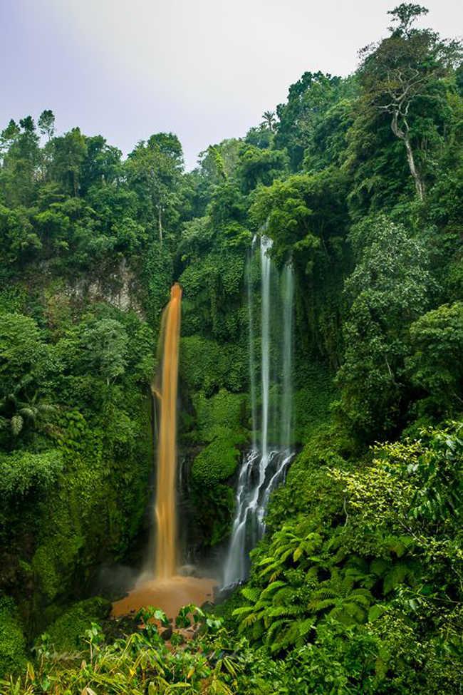 Cascadas de agua en Bali