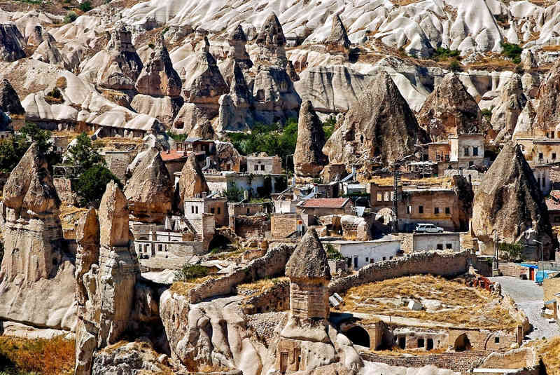 Ciudad antigua en la región de Capadocia, Turquía