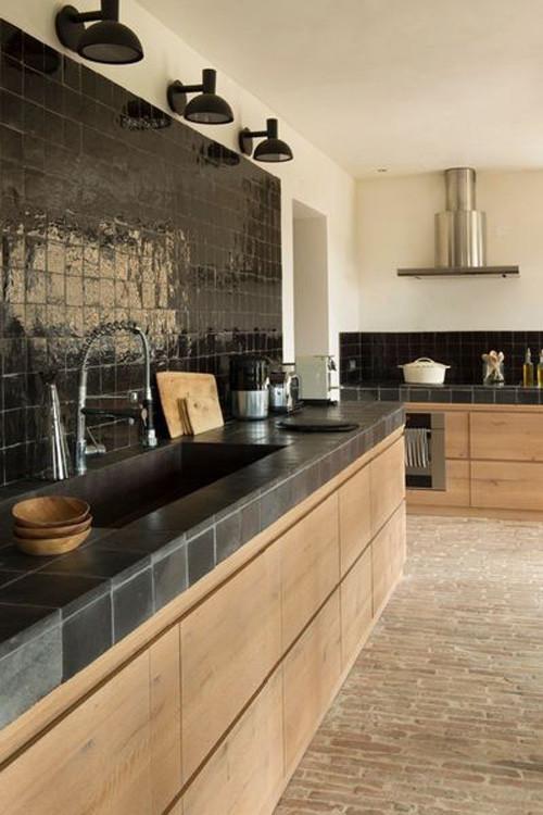 cocinas negras sofisticadas elegantes y atrevidas