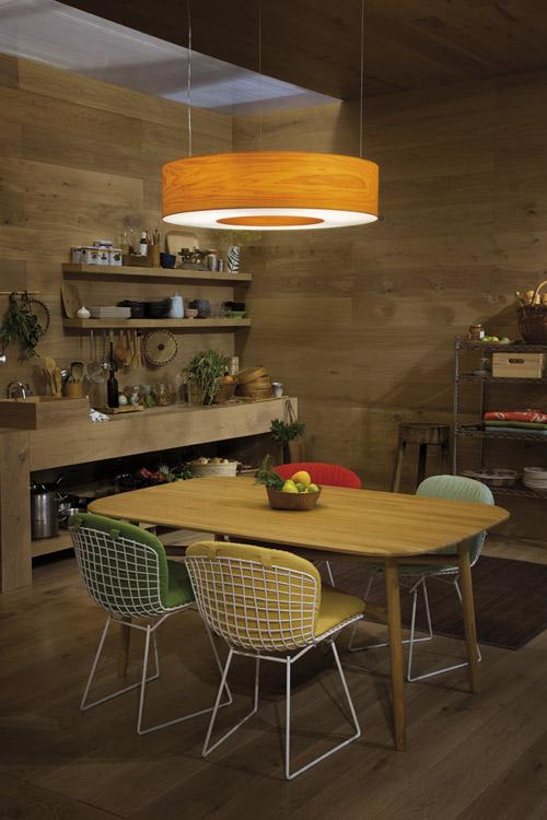 Decoración de interiores con lamparas de madera