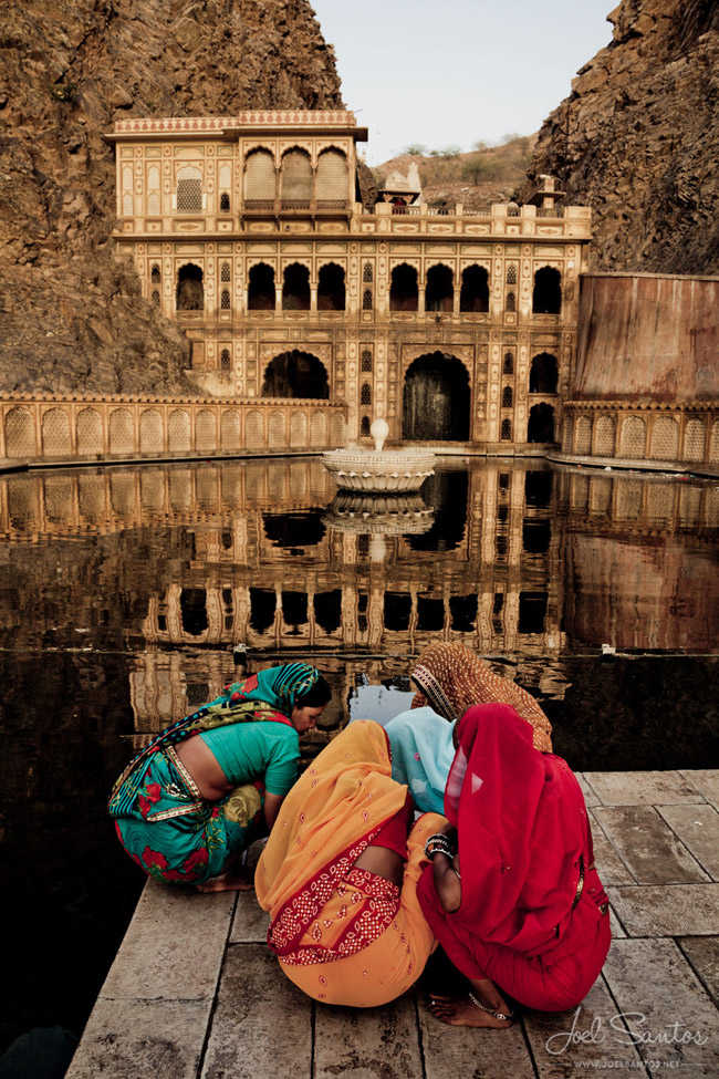 Galta Monkey Temple, Jaipur, India.