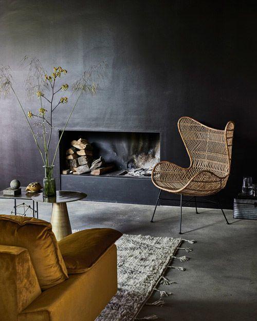 decoración de interiores en color negro