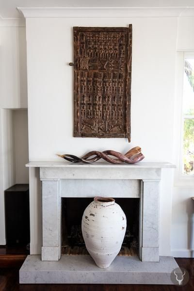 decoración con puertas antiguas africanas