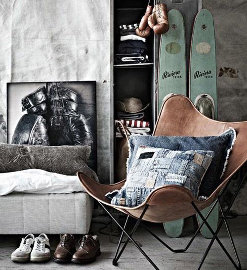 La silla Butterfly en la decoración industrial