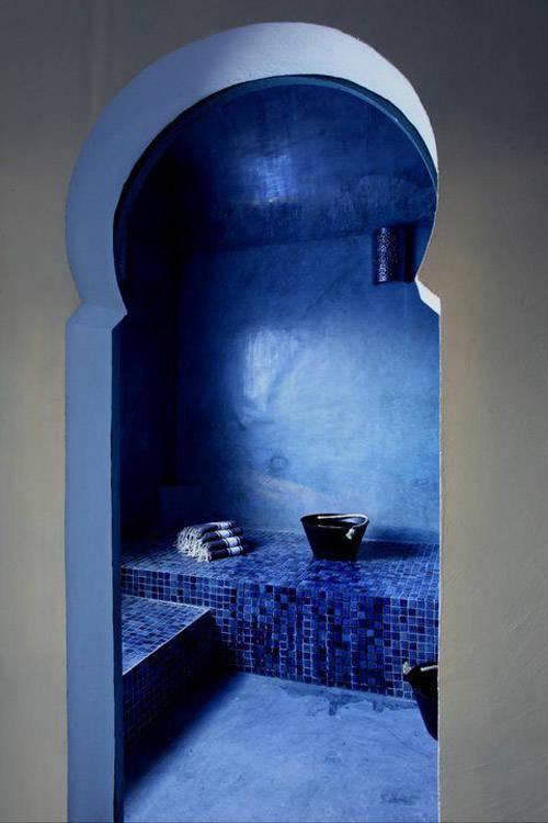 Baño azul de tadelakt