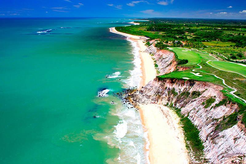 Terravista golf y la playa de Rio da Barra en Trancoso