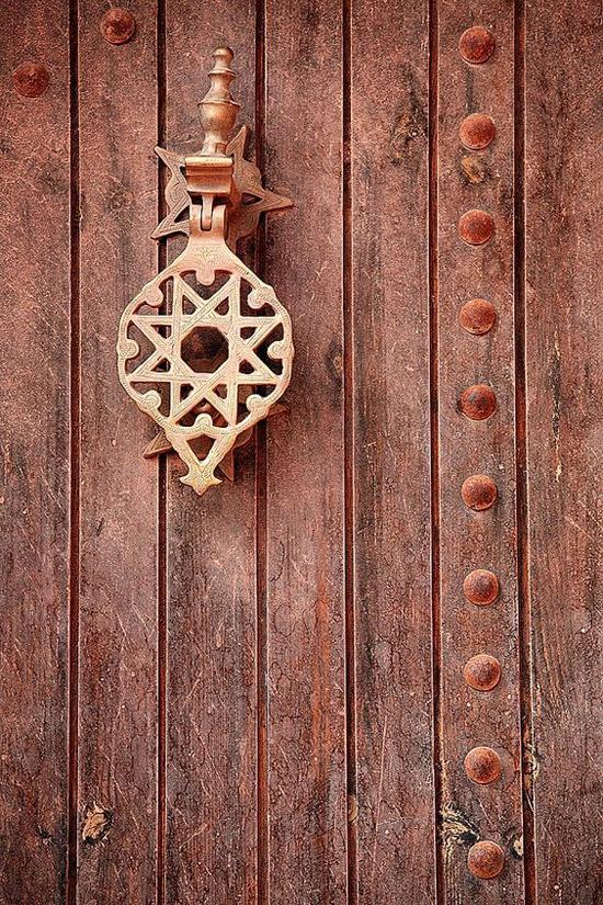 Una puerta en Ait Ben Haddou