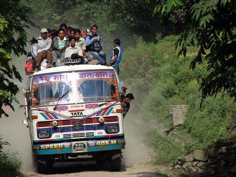 Autobus desde Kathmandu hasta Pokhara