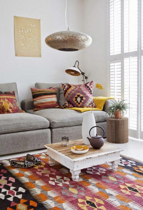 cojines kilim para decorar el hogar