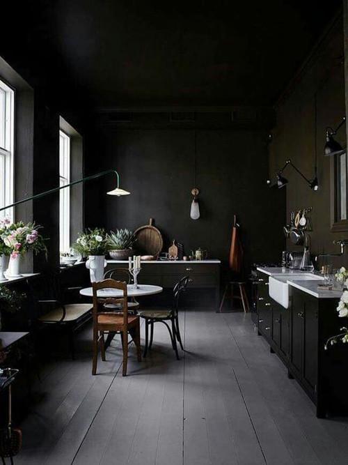 Decoración de espacios de color negro