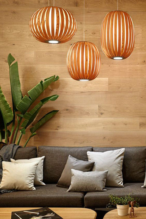 Lamparas de madera colgantes del techo