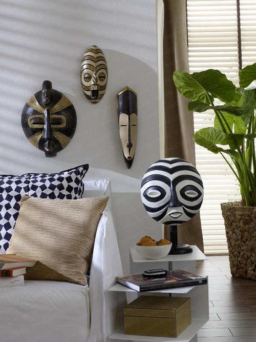máscaras africanas en la decoración