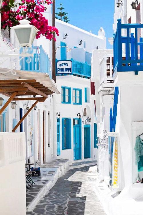 Casas blancas en Mykonos