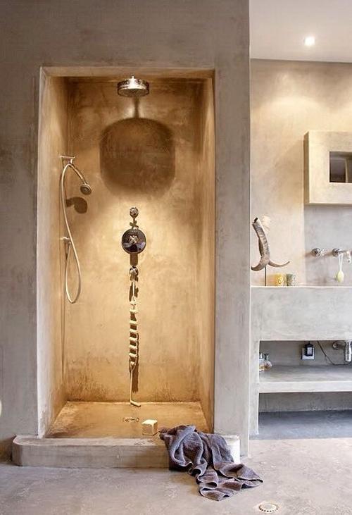 Baño marrón de tadelakt