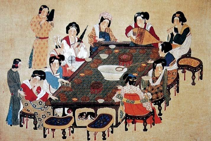 taburetes en la China antigua