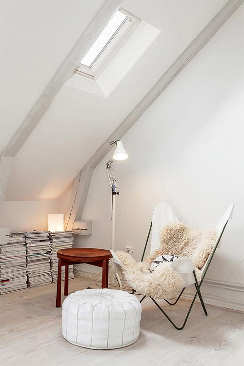La silla Butterfly es perfecta en el dormitorio como rincón de lectura