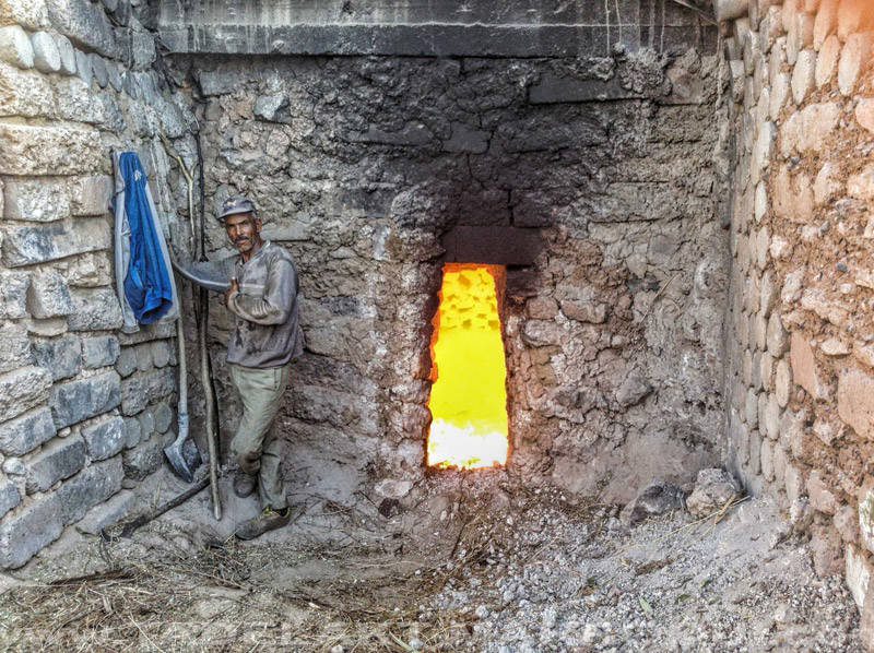 Horno para fabricar tadelakt