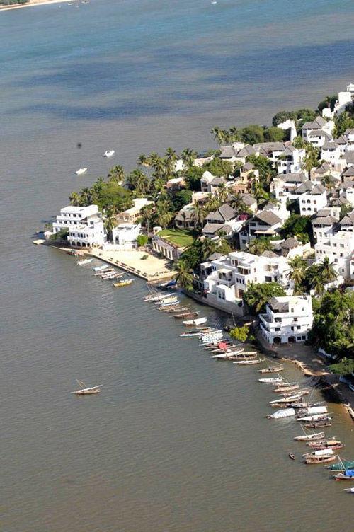 la ciudad de Shela en el archipielago de lamu