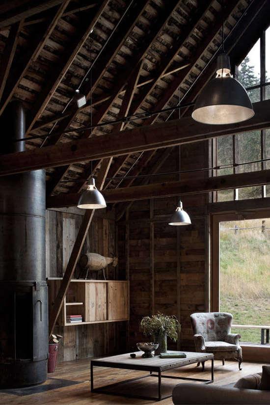 Una casa de estilo industrial