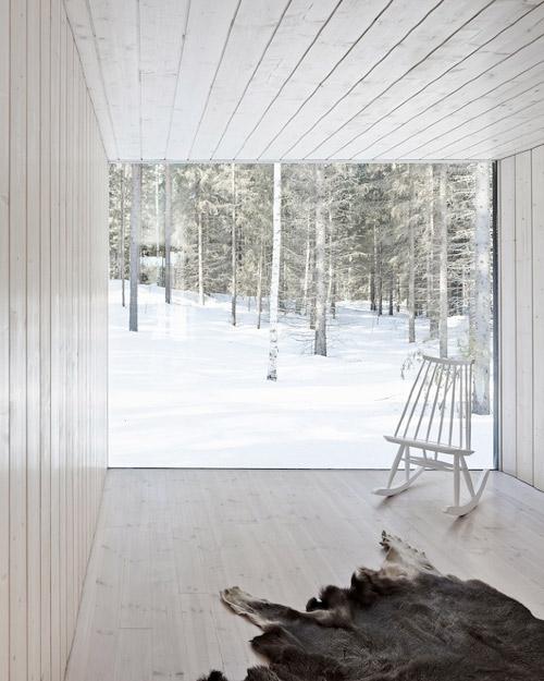 Grandes ventanas en las casas escandinavas