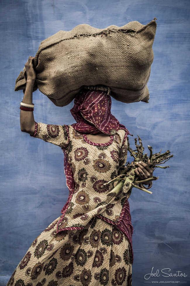 Mujer trabajadora, Jodphur, India.