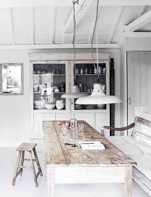 muebles de madera en las cocinas nórdicas