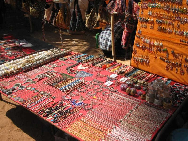 Mercadillo hippie en Goa