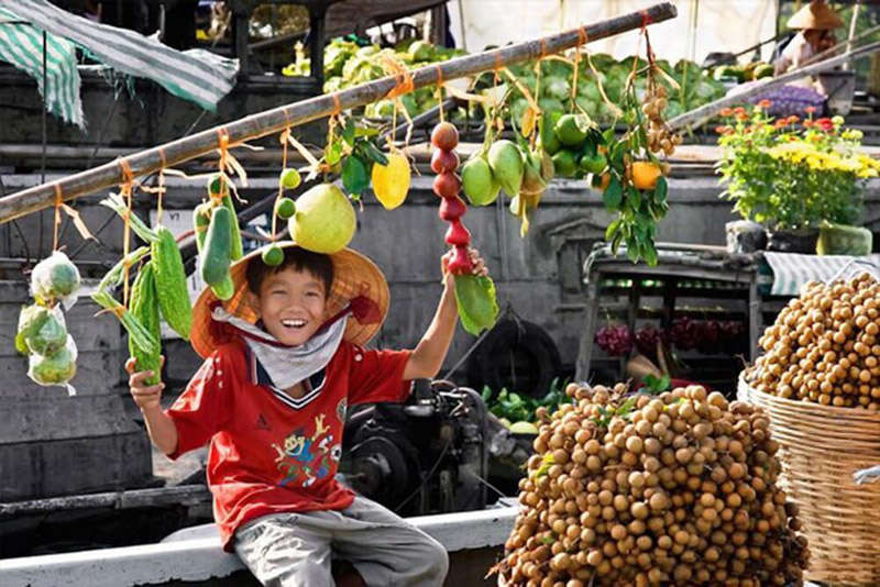 Mercado flotante de Cai Rang, Vietnam