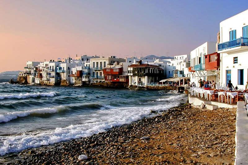 La pequeñ avenecia en Chora, Mykonos