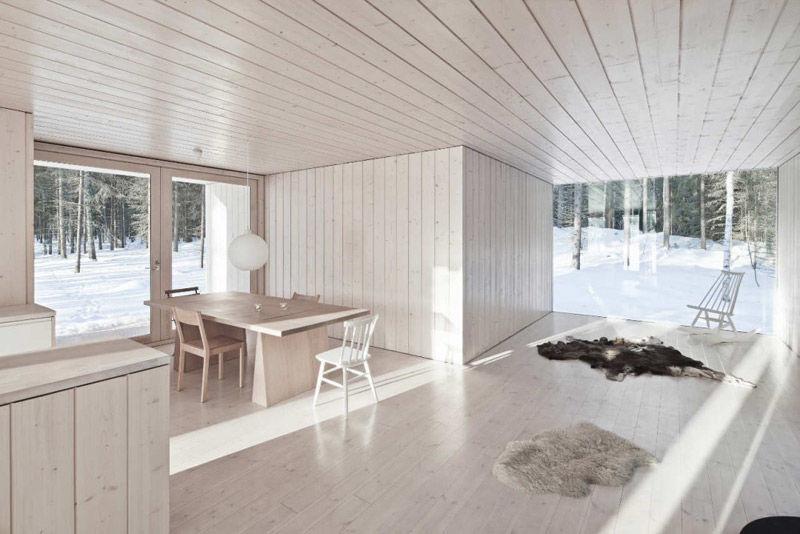 Espacios diáfanos en los interiores de las casas nórdicas
