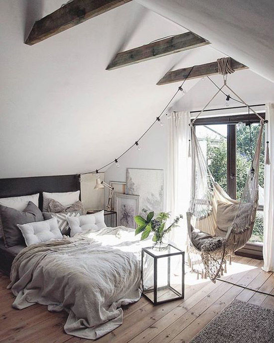 Habotación de una casa escandinava