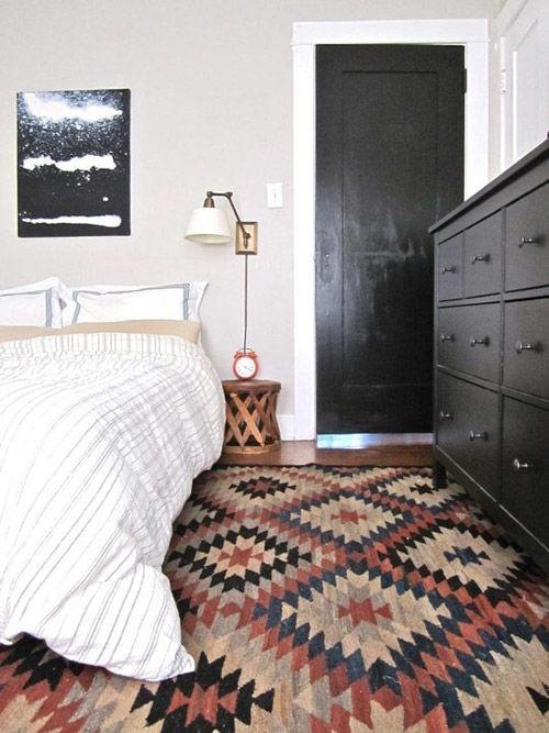 Kilims en la decoración de dormitorios