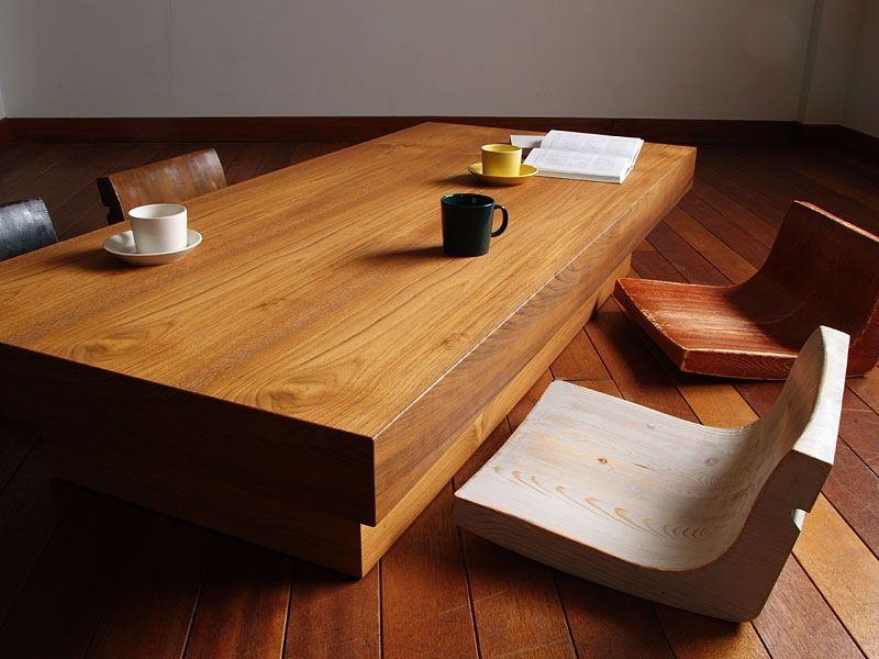 muebles de madera en la decoración zen